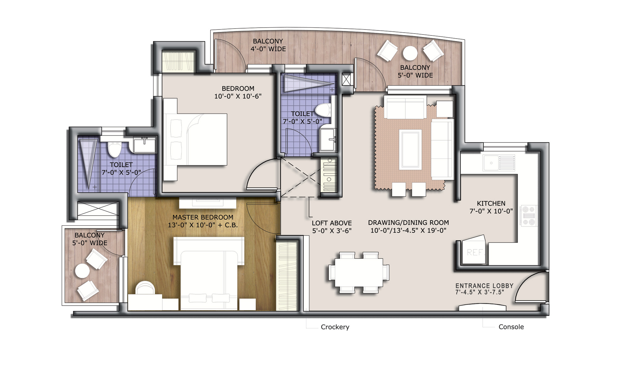 discovery park 1120 sq feet floor plan