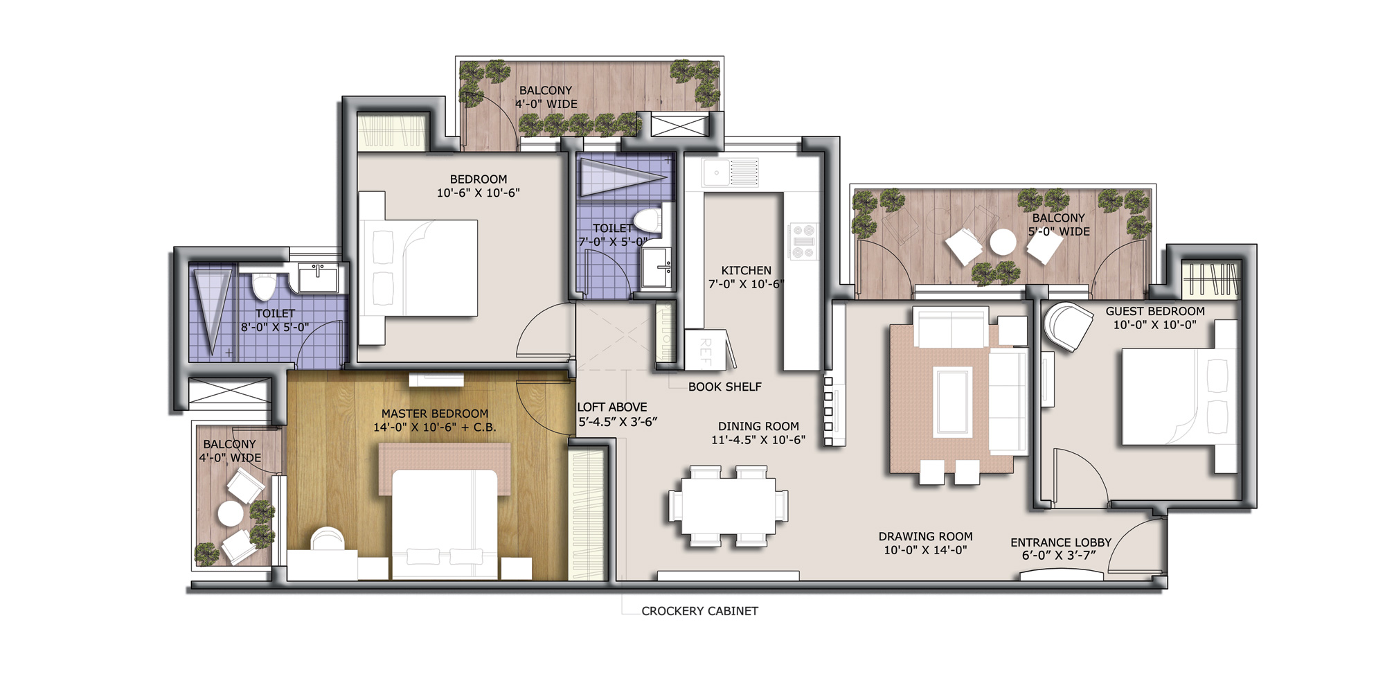 discovery park 1380 sq feet floor plan
