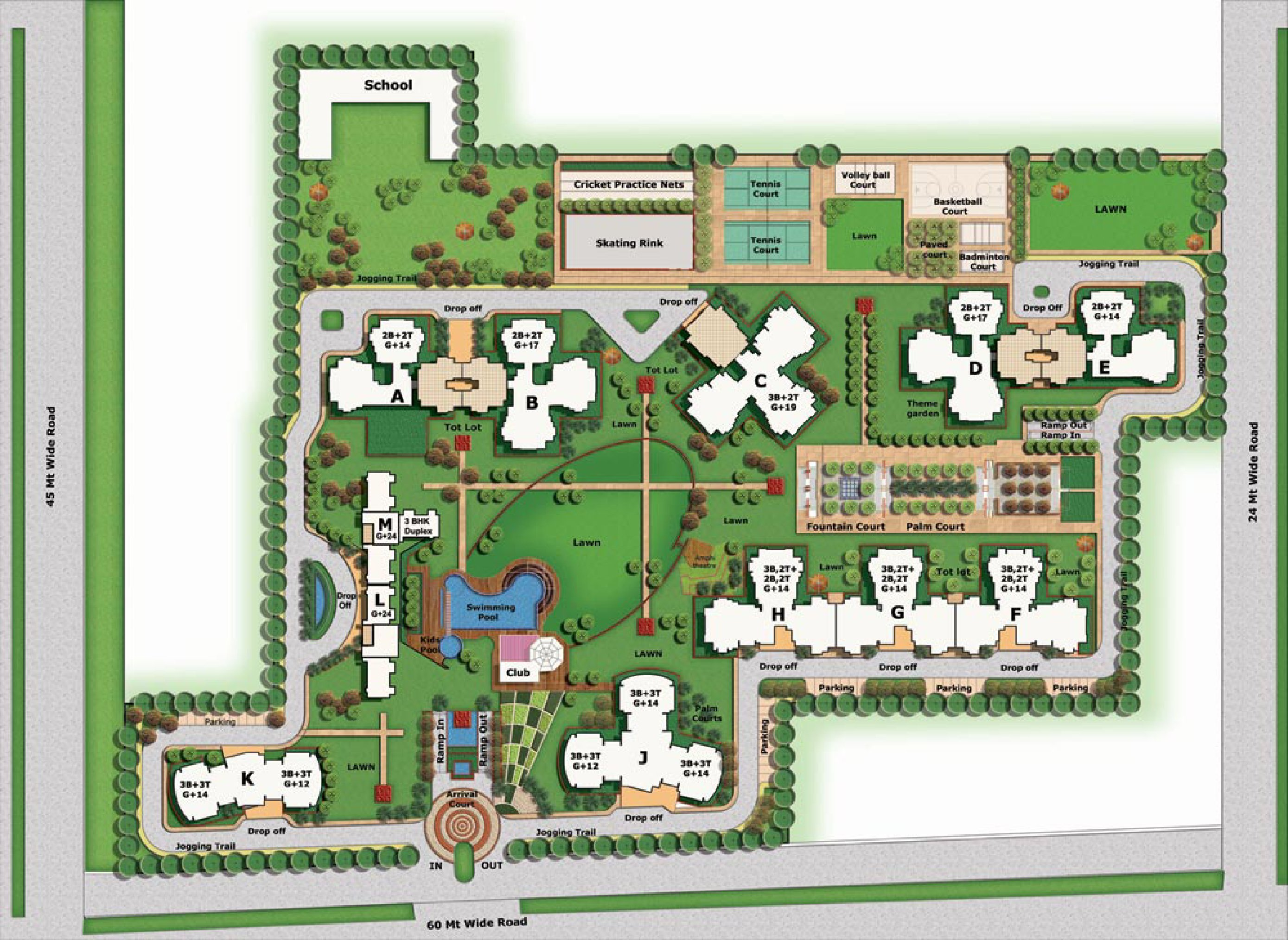 bptp discovery park site plan