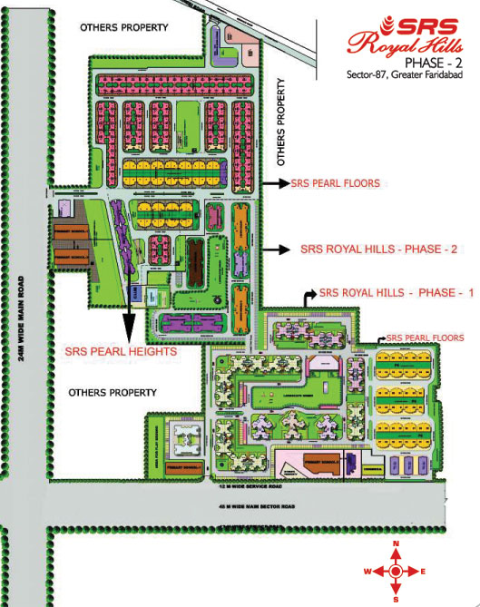 srs royal hills site plan